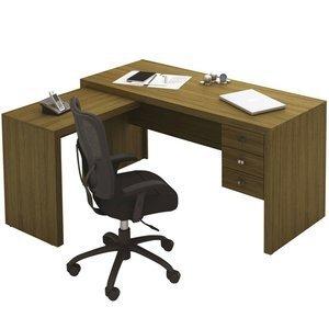 Mesa para Escritório Tecno Mobili ME4106 Amêndoa 0 Tecno Mobili