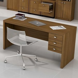 Mesa para Escritório Tecno Mobili ME4113 Amêndoa 0 Tecno Mobili