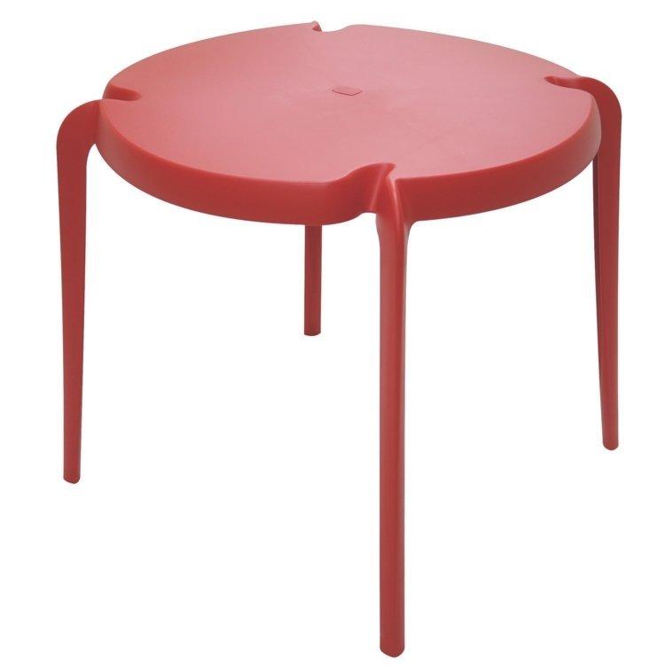 mesa para jardim tramontina:Mesa Tramontina Clarice Vermelho
