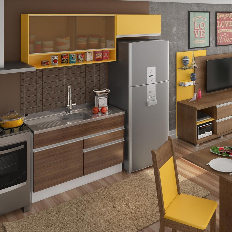 Cozinha Compacta Madesa Smart Branco Beyato Com V Rios Desenhos
