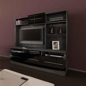 Estante para TV e Home Theater Nature Belaflex Cinza Griss/Preto 0 Belaflex