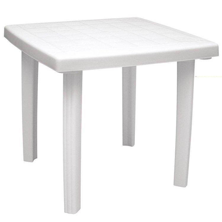 mesa para jardim tramontina:Mesa Quadrada Tramontina Ilhéus Branco em Móveis para Jardim na