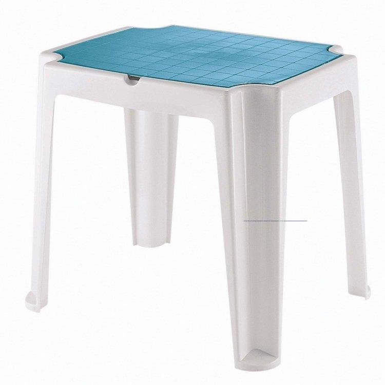 mesa para jardim tramontina:Mesa Tramontina Versa Branco/Azul em Infantil na MadeiraMadeira